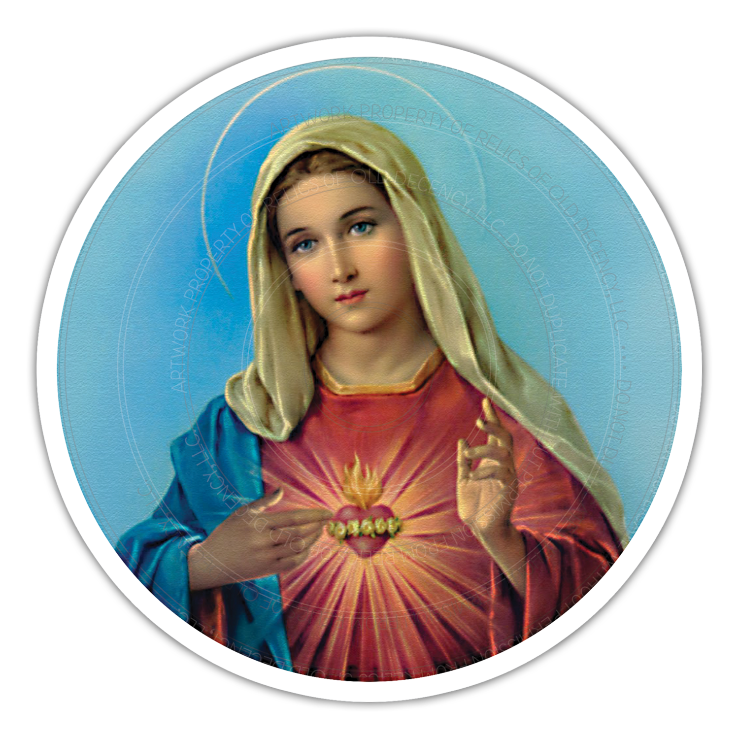 "5.5"" Immaculate Heart Car Magnet"