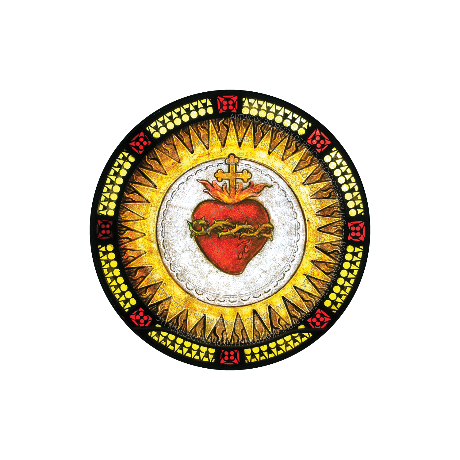 "Sacred Heart of Jesus 3"" x 3""  Die cut vinyl sticker"