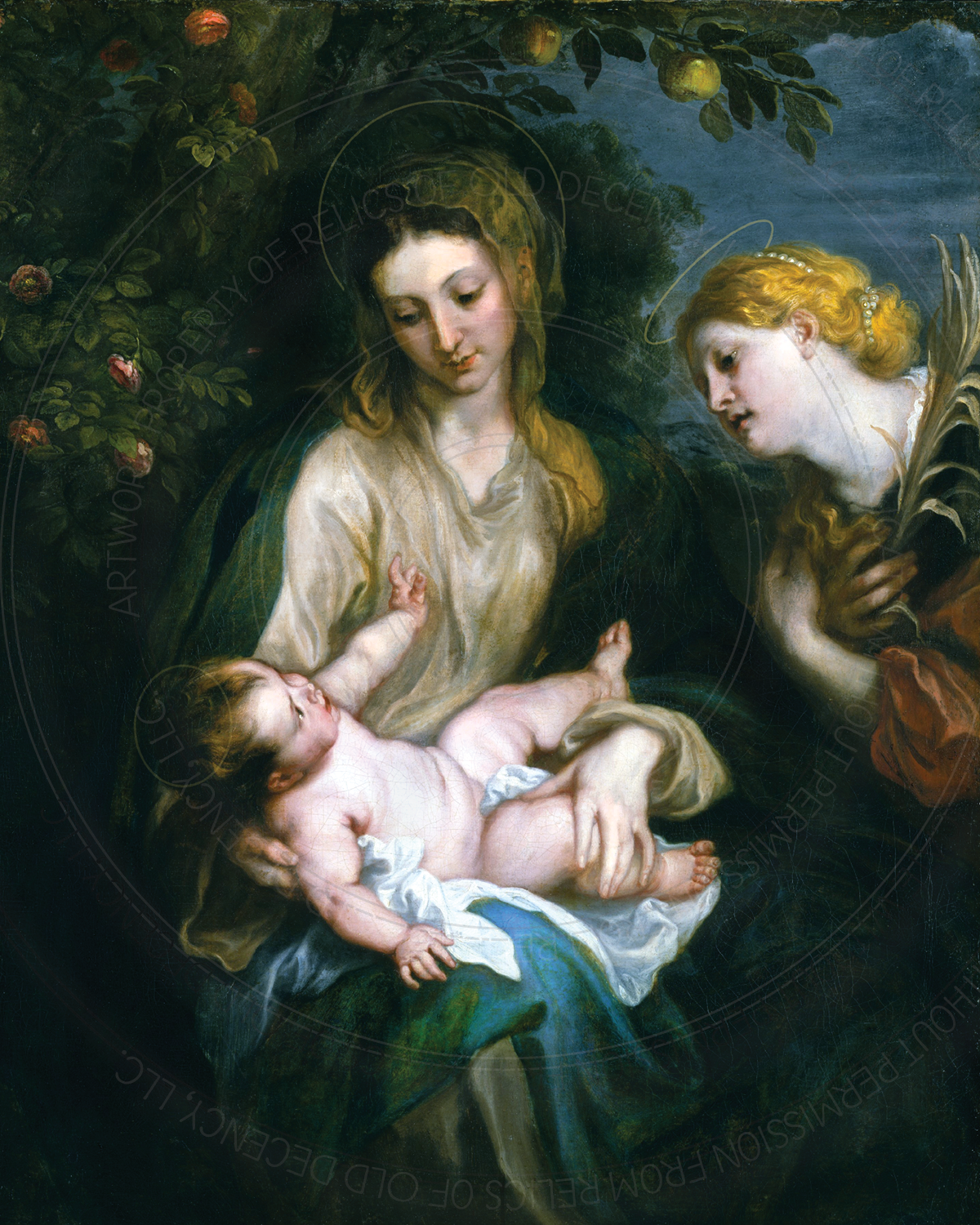 "8"" x 10"" Print -- Virgin & Child with St. Catherine of Alexandria -- van Dyck"