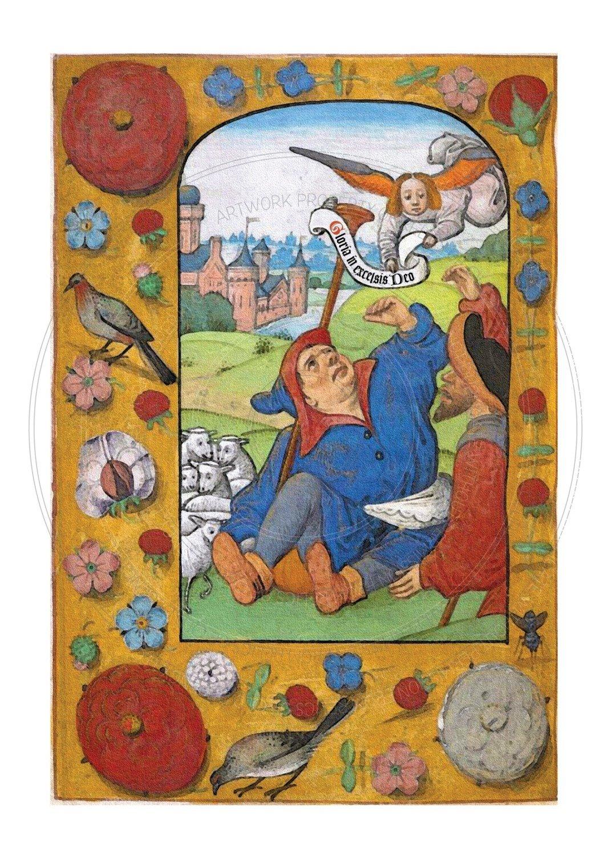 Christmas Card -- Shepherds in the field rejoice.