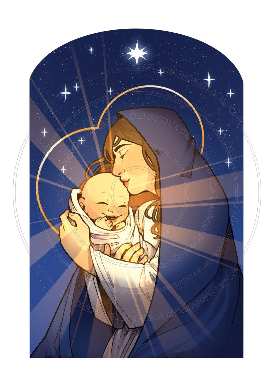 Christmas Card -- Madonna and Child
