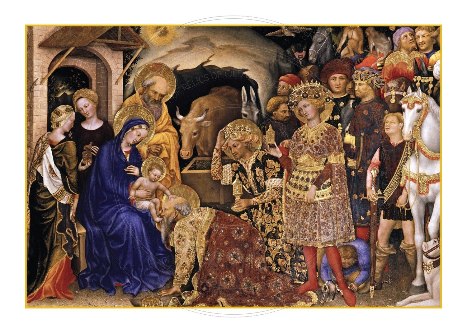 Christmas Card -- Kings come to adore Him