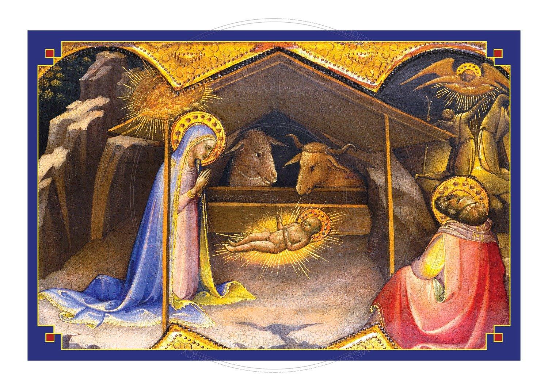 Christmas Card -- Golden Nativity