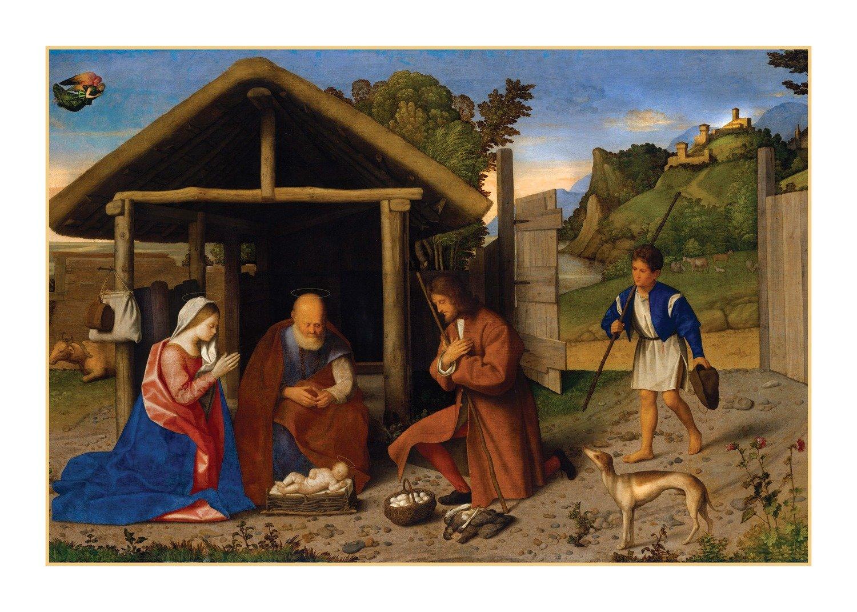 Christmas Card -- Shepherds come to honor Him
