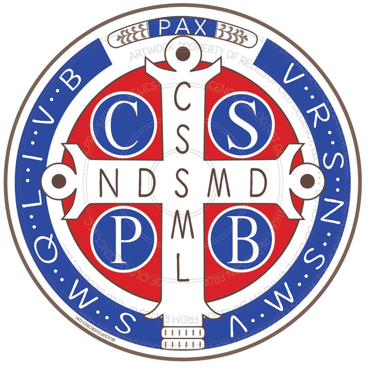 """5.5"""" St. Benedict Medal Car Magnet"""