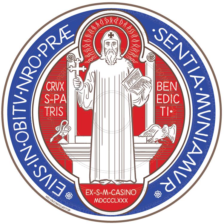 """5.5"""" St. Benedict Medal Car Magnet (Front)"""