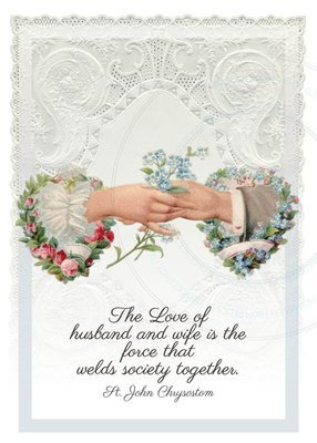 Wedding Card ~ Loving hands