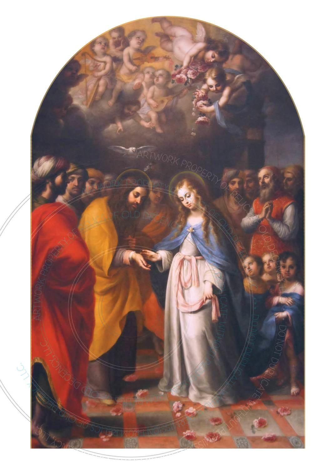 Wedding Card ~ Betrothal of St. Joseph and the Blessed Mother
