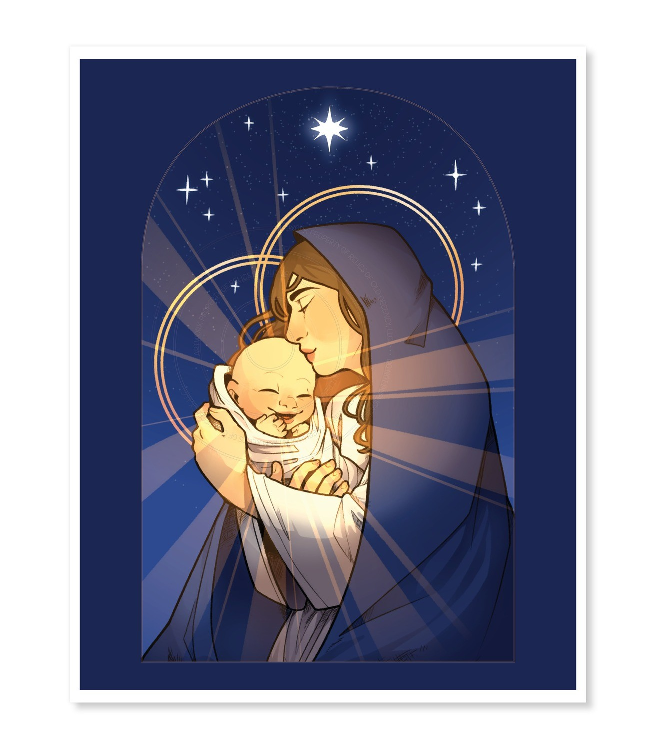 "11"" x 14"" Print -- Madonna and Child by Cate Clough"