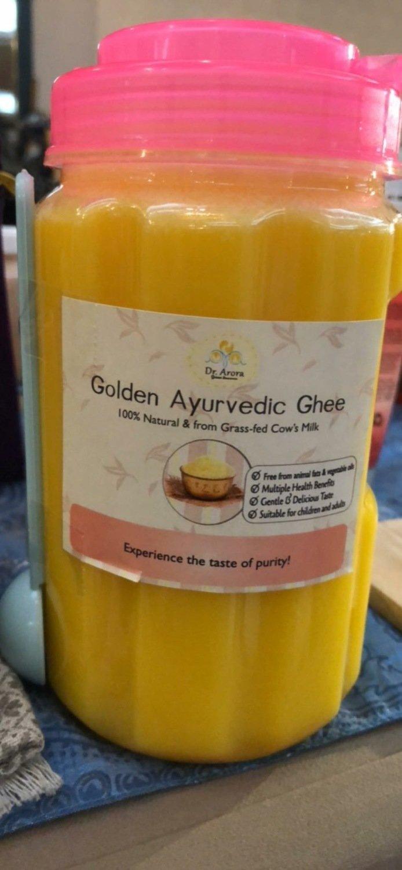 Golden Ayurvedic Ghee  Butter (1000cc, plastic jar)