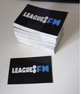 LeagueFM Stickers ( 5 Stuks) pack