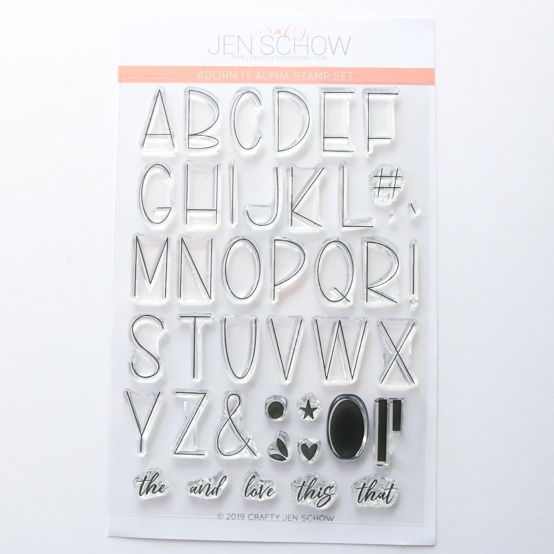 Jen Schow Adorn It Alpha Stamp