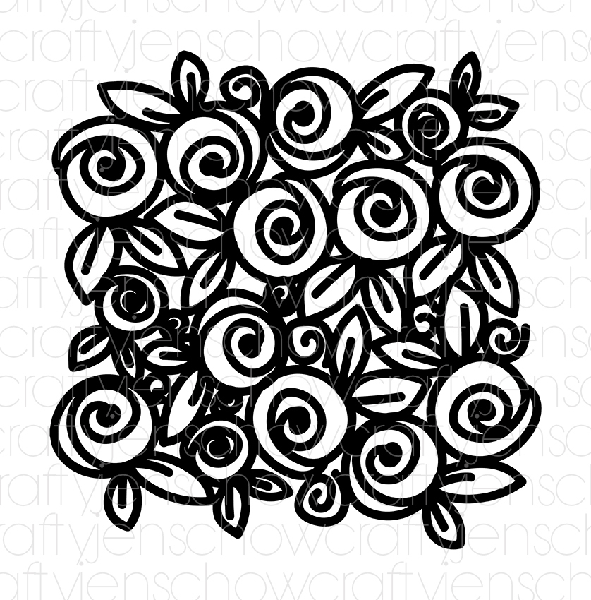 Scribble Floral Background Cut File