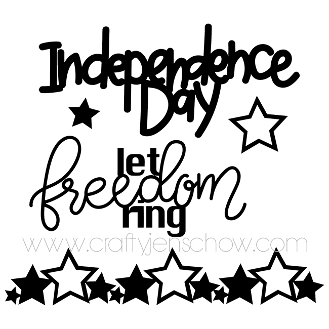 Let Freedom Ring *Free* Cut File (Set of 5)