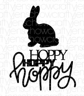 Hoppy Hoppy Hoppy Cut File (set of 2)