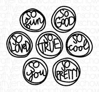 So Circles Cut File (set of 7)