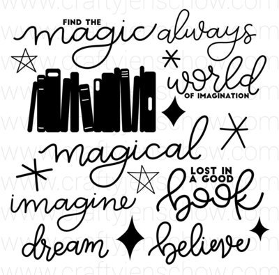 Book Magic Cut File (Set of 17)