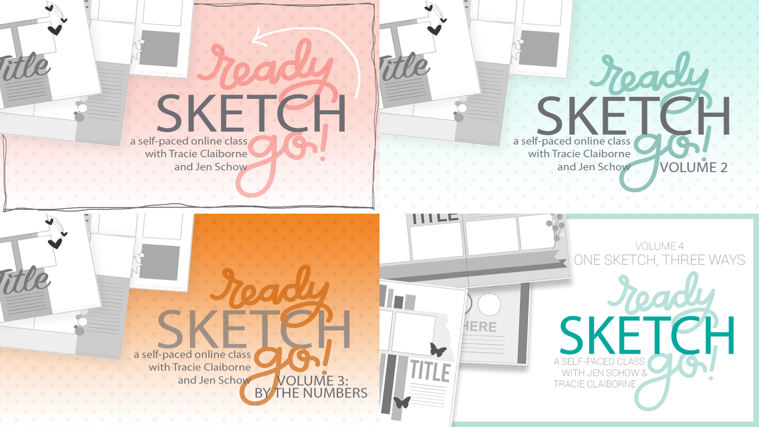 Ready, Sketch, Go! Bundle : Volumes 1-4