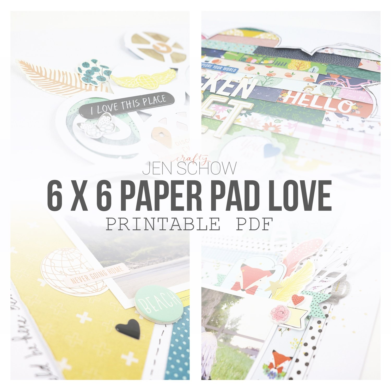 6 x 6 Paper Pad Love Tips + Tricks eBook
