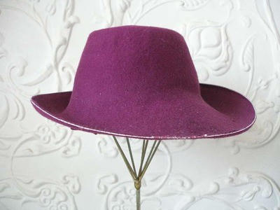 Unfinished Orchid Wide Brim
