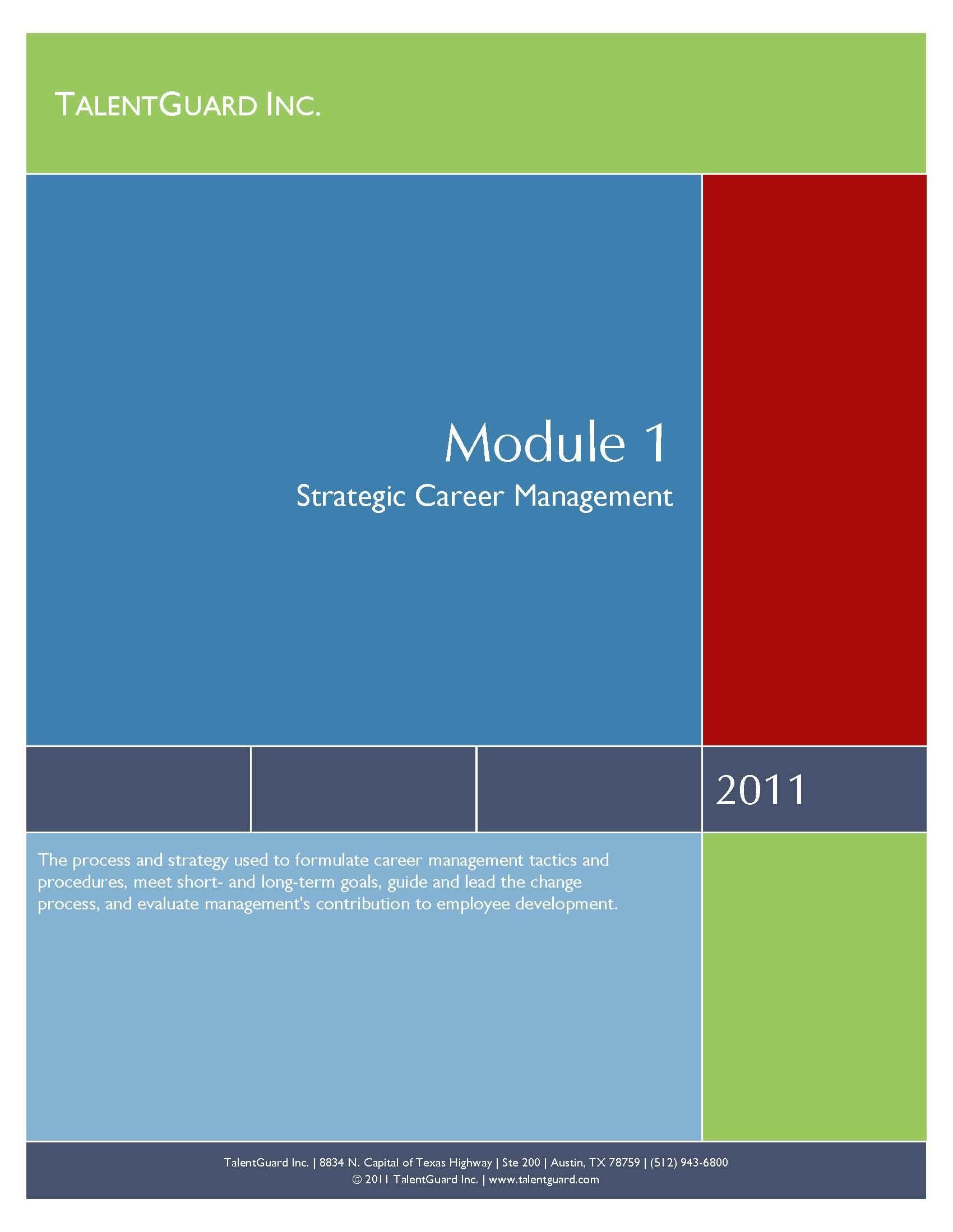 Strategic Career Management Module 004200