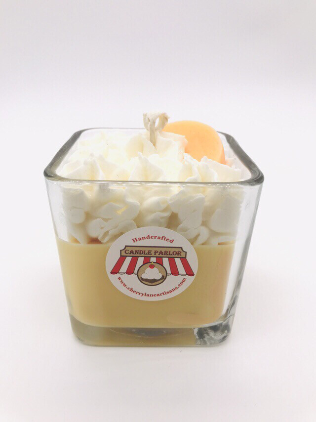 Peach Cream Scented Square Candle
