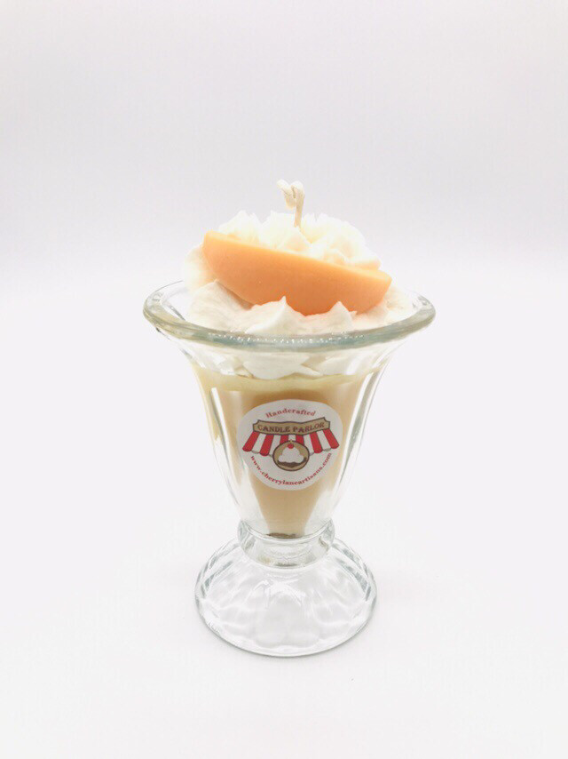 Peach Scented Ice Cream Candle, LG Sundae