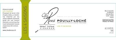 2016 Domaine du Clos des Rocs 'Les Quatre Saison' Pouilly-Loché