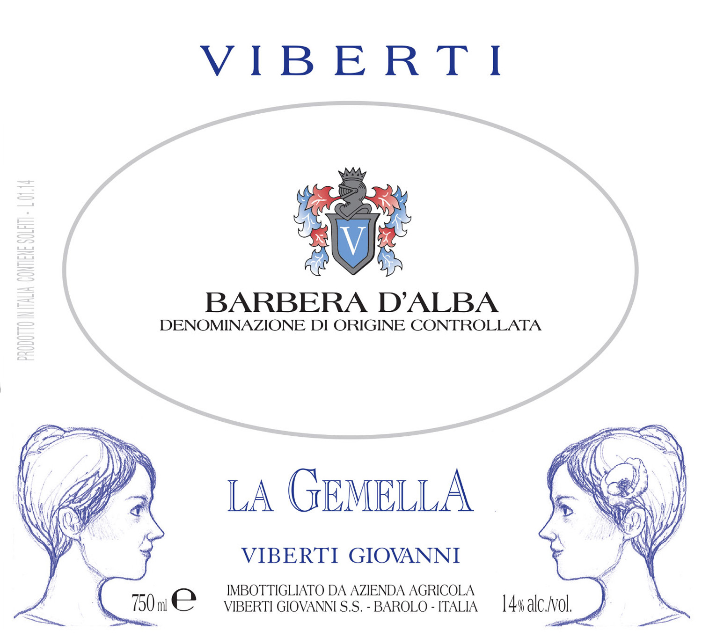 2017 Viberti Barbera d'Alba 'La Gemella'