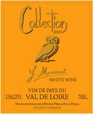 "J. Mourat ""Collection"" Blanc- Fief de Vendeens, Loire Valley, France"