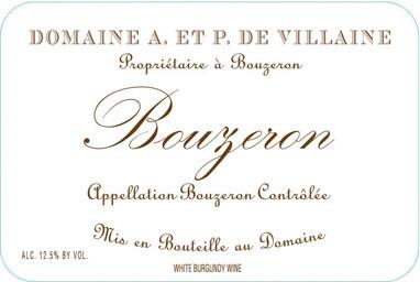 Domaine de Villaine Bouzeron Aligoté 2017