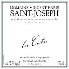 2017 Vincent Paris St Joseph - Northern Rhone, France
