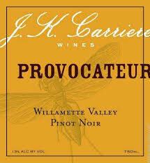 """J.K. Carriere Pinot Noir, """"Provocateur"""" 2017 - Willamette Valley, OR"""