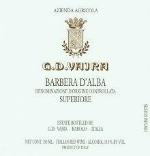 2016 G. D. Barbera d'Alba Superiore -Piedmont, Italy