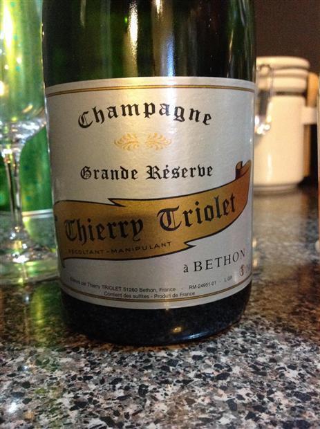 Thierry Triolet Brut NV,  Grande Reserve
