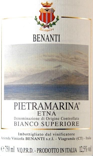 2013 Cantina Benanti 'Pietramarina' Etna Bianco Superiore