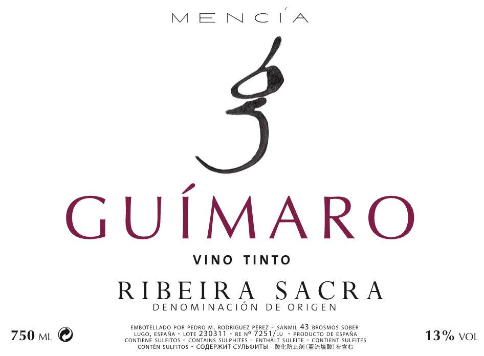 2016 Guimaro Vino Tinto - Ribeira Sacra