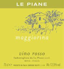 2016 Le Piane 'Maggiorina' Vino Rosso - Piedmont, Italy