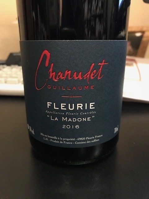 "2016 Guillaume Chanudet Fleurie ""Le Madone"""