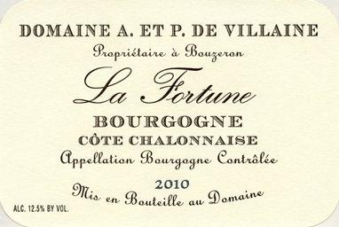 """2016 Bourgogne Côte Chalonnaise Rouge """"La Fortune"""""""
