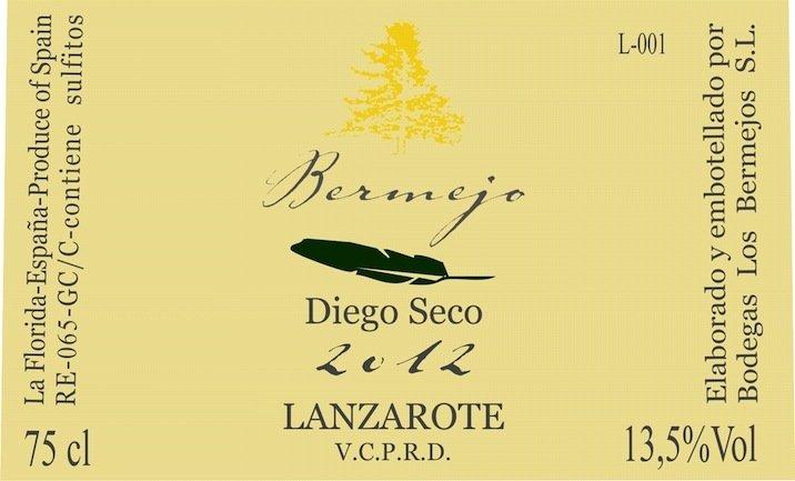 "2017 Bermejos Diego Seco ""Ecologico - Lanzerote. Canary Islands"