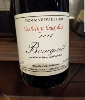 Domaine Bel Air 2017 'Le Vingt Lieu Dit' Bourgueil - Loire Valley, France