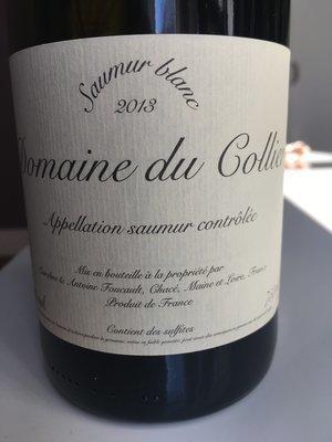 Domaine du Collier Saumur Blanc 2014