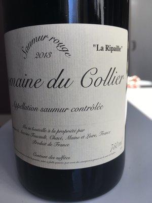 Domaine du Collier Saumur Rouge 'La Ripaille' 2014