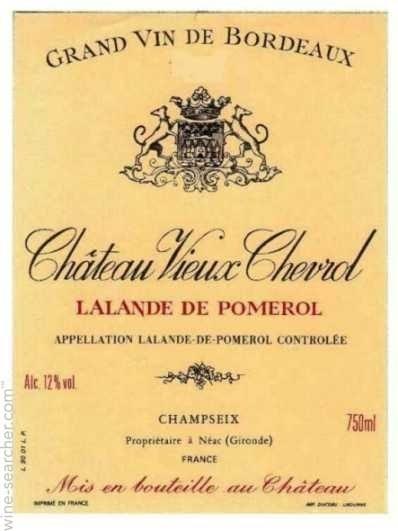 2015 Chateau Vieux Chevrol - Lalande de Pomerol