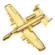 Lapel Pin, A-10 Warthog by Clivedon