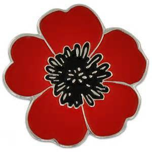 WWI Poppy Lapel Pin