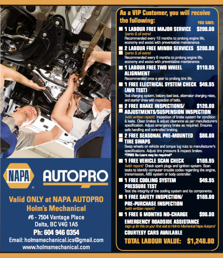 Holm's Mechanical Napa Autopro (Delta)