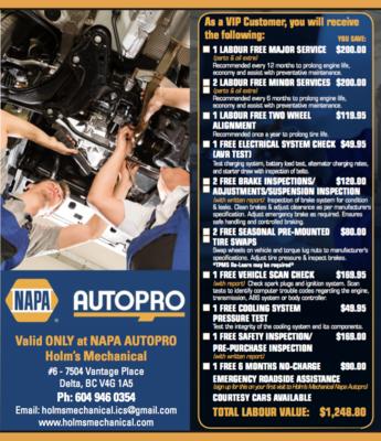 Holm's Mechanical Napa Autopro (Delta)