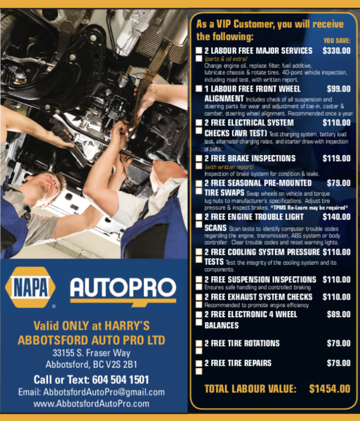 Harry's Abbotsford Auto Pro Ltd. (Abbotsford) 0400